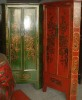 Chinese Antique Painted Corner Cabinet