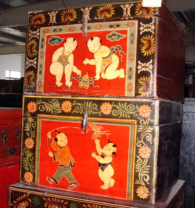 Chinese Antique Trunk