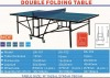 double folding table tennis table