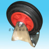 Rubber Wheel with Plastic Core Fixed Caster