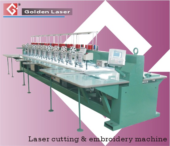 Embroidery Machine With Lasers
