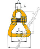 Connecting Link Chain Coupling For Webbing