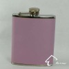 Pink Leather Hip Flask