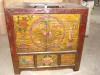 Old painting small cabinet