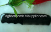 Three Wave Handle Black Yak Horn Comb