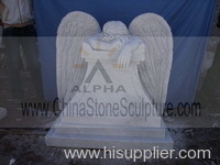 Weeping Angel Marble Statue