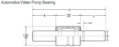 Automotive Water Pump Bearing WIB16301030S