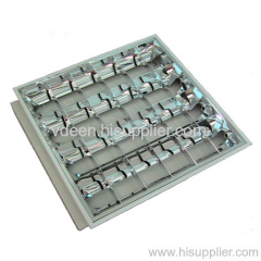 T8 Recessed fluorescent grid lamp,T5,T8 grille light fixture,Parabolic Reflector ,Recessed fluorescent louver fitting