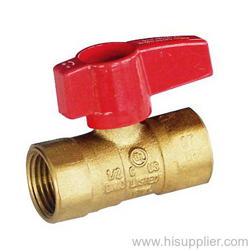 CSA1/2 5psig & UL250psi Approved FIP x FIP Gas Ball Valve With Aluminum Lever Handle