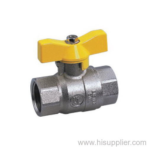UL Approved FPT/FPT Full Port Ball Valve With Aluminum T Handle Nickel Plated