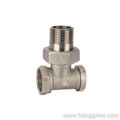 3/8''-3/4'' Brass Angle Radiator valve Ni Plating