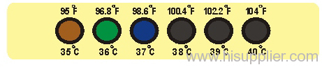 liquid crystal thermometer-forehead thermometer