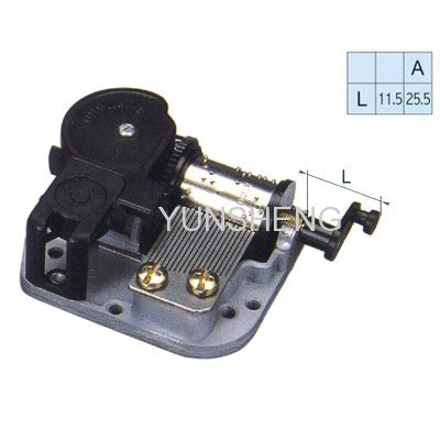 Standard Musical Movement Rotating Drum Shaft Crank