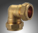 Elbow Brass Compression Fitting
