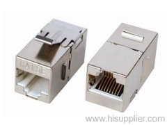 CAT5E keystone jack (RJ45 to RJ45)
