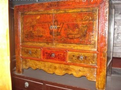 Antique Chinese mongolia cabinet