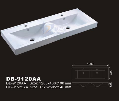 Double Bowl Vanity Basin Drop In Sink