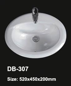White Drop In Sink Ceramic