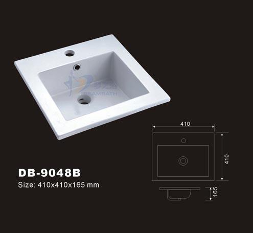 Drop In Bowl Square Sink Vessel