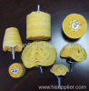 yellow buffing wheel