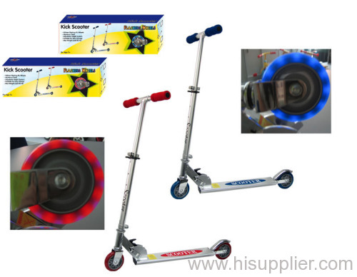 100 mm flashing wheel scooter