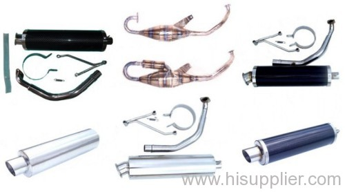 motorcycle ,scooter and dirt bike muffler parts