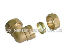 Brass Compression Equal Elbow Fitting for Copper Pipe