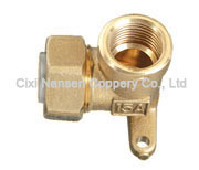 Brass Stainless Flexible Female Elbow Fitting with Wing