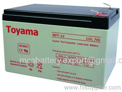 Sealed Lead Acid Battery NP7-12(12V7AH)