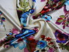 100% silk satin printed fabrics with big floral designs