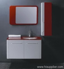 White PVC Bathroom Vanity