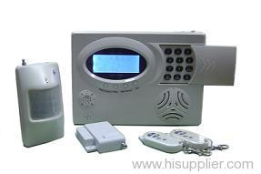Home alarm system with voice instruction and LCD