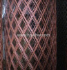 Red Pvc Coated Expanded Metal Fence