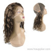 Remy india human hair full lace wigs