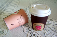 single wall paper cup, coffee cup
