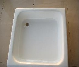 cast iron enamel shower tray