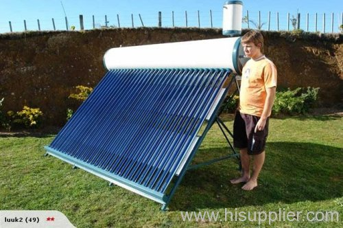 pre-heating solar water heating system