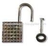 Zinc alloy padlock with Rhinestone