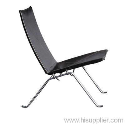 Pk22 Easy Chair With Middle Thickless Leather