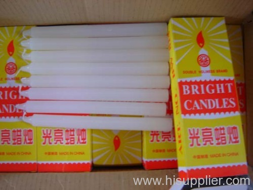 white candles box packing