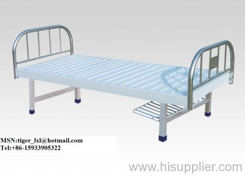 Flat bed with stainless steel bed head