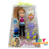 Plastic Princess Doll Set