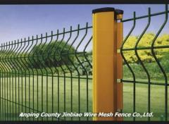 Panel Fence With Curve