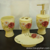 Polyresin crafts, bathroom set