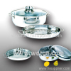 Stainless Steel Oval Roasters with Aromatic Knob 4Pcs Set