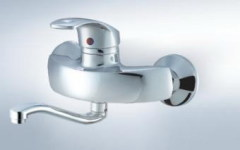 wall mounted kitchen tap
