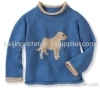 Intarsia round neck baby cashmere pullover