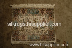 handknotted silk tapestry,silk rugs