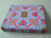 file folder with printed cloth cover
