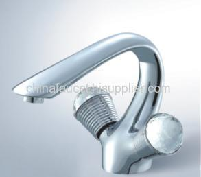 double lever basin tap